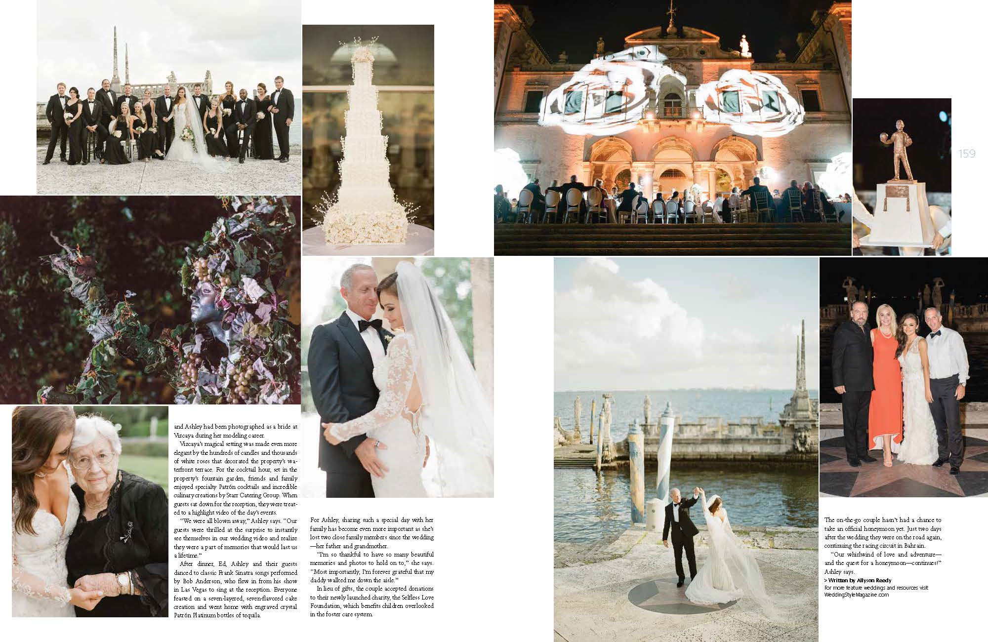 The wedding of Ashley and Ed was featured in Grace Ormonde Wedding Style Magazine.