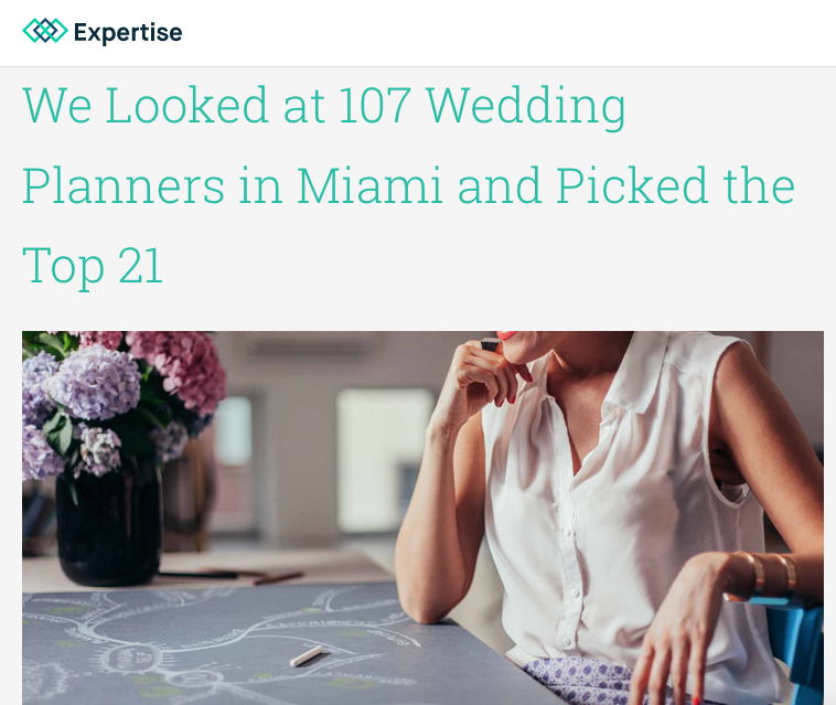 Lourdes Milian Featured in Best Wedding Planners in Miami 2017 by expertise.com