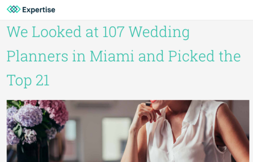 Lourdes Milian Featured in Best Wedding Planners in Miami 2017